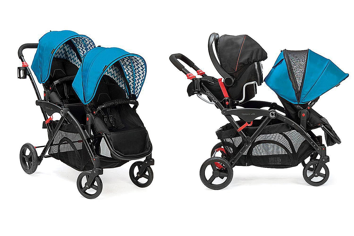 evenflo parallel tandem double stroller review